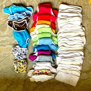 Assorted cloth diapers pockets covers